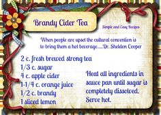 Warm your soul with this yummy tea.....