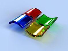 Logo-ul de la Microsoft varianta 3D