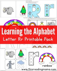Learning the Alphabet - FREE Letter R Printable Pack