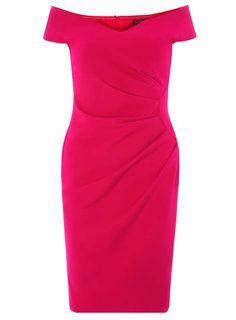 Womens **Scarlet B Magenta Sasha Bardot Dress- Pink Wedding Guest Style, Bardot Dress, Scarlet, Magenta, Dress To Impress, Dresses Online, New Look, Formal Dresses, Shopping