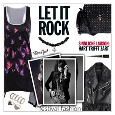"""""""RoseGal #32"""" by shambala-379 ❤ liked on Polyvore featuring Dsquared2, Yves Saint Laurent, Christian Louboutin and festivalfashion"""