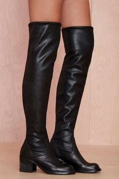 Jeffrey Campbell Damien Knee High Leather Boot