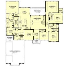 Building A New Home, Square Feet, Beautiful Homes, Ranch, Home Improvement, House Plans, New Homes, Floor Plans, Farmhouse