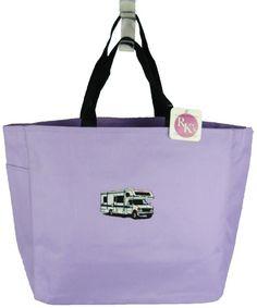 RV Class C Motorhome Tote Light Purple Bag Winnebago Camping Camper Monogram NWT #PortAuthority #TotesShoppers