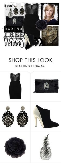 """""""Karas Reaping Dress"""" by sarasnowbird ❤ liked on Polyvore featuring Kara, Mason by Michelle Mason, Mary Frances Accessories, Mimco, Timeless, Pols Potten and ASOS"""
