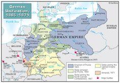 German Unification Map, 1865 - 1871