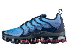 pretty nice 7cb3d b98c1 Nike Air VaporMax Plus 924453-401 Chaussures Nike Prix Pas Cher Pour homme  Bleu Noir