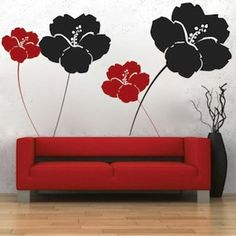 Cool Flowers Wall Decals by trendywalldesigns on Etsy, $24.95