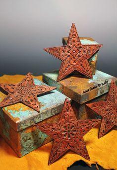 Marlene Brady: Faux Leather Stars