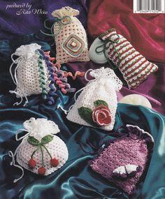 Sachet Crochet Patterns 11 Soap Sachet Designs by PaperButtercup
