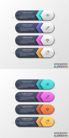Modern Infographic Choice Arrows Template (2 Styles) - PSD, Vector EPS, AI Illustrator
