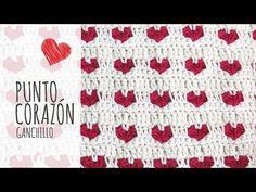 Punto corazones reversible o AMOR ETERNO tejido a crochet! Tejiendo Perú - YouTube