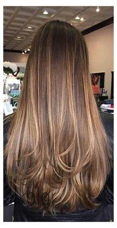 Brown Hair Balayage, Brown Blonde Hair, Balayage Brunette, Light Brown Hair, Hair Color Balayage, Balayage Highlights, Carmel Highlights, High Lights Brown Hair, Straight Brunette Hair