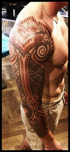 Tatouage sur tout le bras dans 20 motifs de l'art du tatouage viking pour homme…