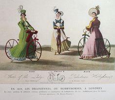 1818/1819 Johnson's Ladies Walking Machine | The Online Bicycle Museum