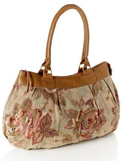 Monsoon Esther Rose Embroidered Tapestry Bag 40GBP