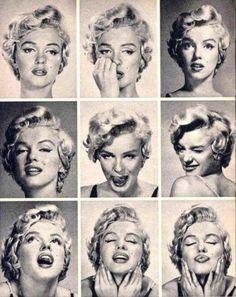 Marilyn Monroe expression sheet, 1955.