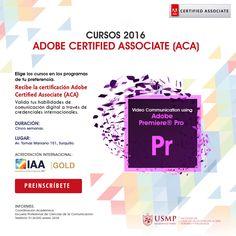 #CertificacionesAdobe | En un mundo cada vez más visual se necesitará de profesionales expertos en la producción de videos. Inscríbete en nuestro curso Adobe Premiere Pro y obtén la certificación internacional de #Adobe.