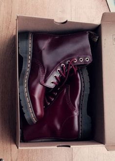 Green or Maroon? Or maybe black? I have this vision of climbing around the cliffs of the Marin Headlands and I wonder what these Doc Martins would look like with the corset and a flowing skirt. Strength in femininity.