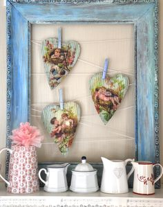 Wings of Whimsy:framed display of paper collections