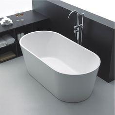 Badkar Bathlife Ideal Fristående Rund Vit