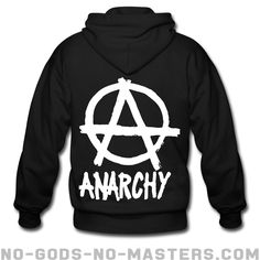 Zipper hooded sweatshirt Anarchy - Politics