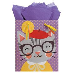 Kitty cat gift bag: Petit Collage for The Gift Wrap Company