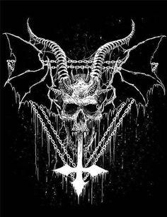 "Receive fantastic ideas on ""metal art diy"". They are offered for you on our internet site. Satanic Tattoos, Satanic Art, Satanic Cross, Gothic Kunst, Gothic Art, Demon Art, Arte Horror, Horror Art, Black Art"