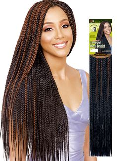 Natural with hair braids crochet