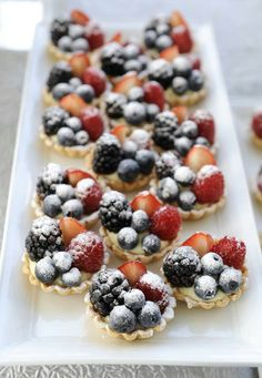 -berry tarts dusted w/sugar-