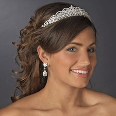 Classic Elegance Rhinestone Bridal Tiara - a top selling headpiece style for the bride! Affordable Elegance Bridal