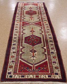 3 x 11 Persian Sarab Tribal Hand Knotted Wool Beige Red Blue Runner Oriental Rug #PersianSarabTribalGeometric