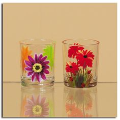 Hand Painted Votive Cup Assorted Styles (79491)