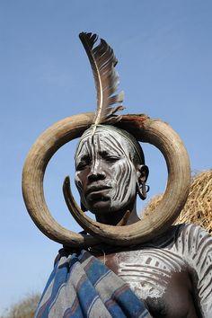 omo valley, ethiopia, Mursi woman