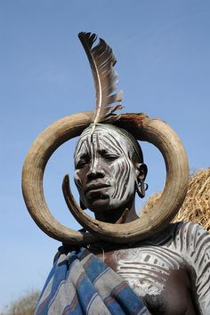 omo valley, ethiopia, Mursi woman