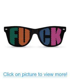 F**K Black Party Wayfarer Sunglasses - KIRUFUS PICTURES