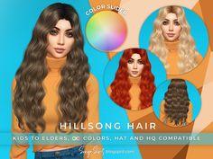 SonyaSimsCC's SonyaSims Hillsong COLOR SLIDER (Patreon) (Retexture) Sims 4 Mods Clothes, Sims Mods, Eden Hair, Sims 4 Cc Folder, The Sims 4 Cabelos, Pelo Sims, High Hair, Sims 4 Dresses, The Sims 4 Download