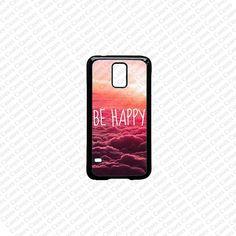 Samsung Galaxy S5 Case Be Happy Samsung Galaxy S3 by KrezyCases, $14.99