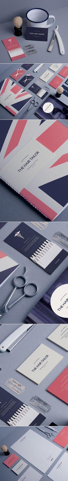 Unique Branding Design, The Hair Tailor #branding #design (http://www.pinterest.com/aldenchong/)