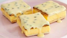This NO BAKE 5 ingredient Vanilla Slice with Passionfruit Top is a delicious classic! Check out the No Bake Chocolate Eclair and the Magic Custard Cake too.