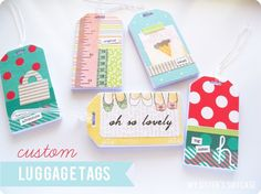 I was looking for a diy gift for guests at an upcoming party and found this.  Great idea! *same item can be found for less on ebay. Custom Luggage Tags and business card holder{by My Sister's Suitcase}