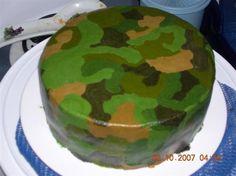 camoflauge cake all buttercream very easy