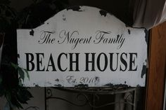 Rustic Custom Beach House  PERSONALIZED wood sign by blueyedgirl