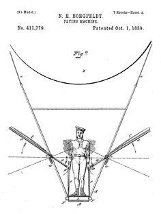 Flying machine,1889