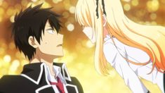 "This is from the anime ""Kishuku Gakkou no Juliet."" The couple in the picture is Romio Inuzuka and Juliet Persia. Romance Anime List, High School Romance Anime, Romance Movies, Best Action Romance Anime, Romeo And Juliet Anime, Anime Manga, Anime Art, Manhwa, Tous Les Anime"