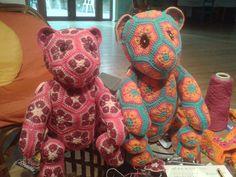 Rosina and Rudy. Cotton bears.