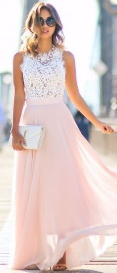 Lace & Locks Pink Maxi Skirt Fall Inspo - dresses for women, dresses summer, cheap summer dresses *ad Maxi Skirt Fall, Dress Skirt, Dress Up, Maxi Skirts, Lace Dress, Dress Long, Lace Maxi, Maxi Dresses, Chiffon Dresses