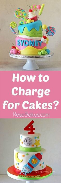 How to Charge for Cakes - Cake decorating tutorials - Gateau Cakes To Make, Fancy Cakes, How To Make Cake, Cake Decorating Techniques, Cake Decorating Tutorials, Cookie Decorating, Decorating Cakes, Cake Pricing, Cake Business