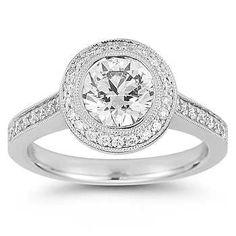 Round Brilliant 1.53 ctw VVS2 Clarity E Color Diamond Platinum Ring