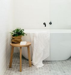 Future Home Interior White grout marble hexagon and white subway tile.Future Home Interior White grout marble hexagon and white subway tile. Bathroom Renos, Laundry In Bathroom, Bathroom Interior, Bathroom Ideas, Master Bathroom, Bathroom Grey, Bathroom Goals, Bathroom Storage, Bathroom Inspo